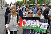 Gaza protesters — Stock Photo
