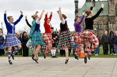 Scottish Highland Dancers — Stock Photo