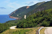 The Cabot Trail in Cape Breton, Nova Scotia — Zdjęcie stockowe