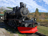 Steam train in Autumn setting — Stock Photo