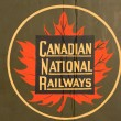 Stock Photo: Vintage and iconic CanadiNational Railway
