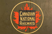 A vintage and iconic Canadian National Railway — Stock Photo