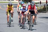 Street bike race — Stock Photo