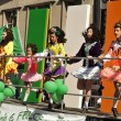 Young Irish dancers in St Patrick's Day Parade — Stock Photo