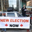 Stock Photo: Federal election fraud protest in Toronto, Canada