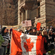 Federal election fraud protest in Toronto, Canada - Stock Photo