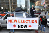 Federal election fraud protest in Toronto, Canada — Stock Photo