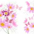 Stock Photo: Floral abstract background