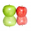 Fresh apples isolated on white - Stockfoto