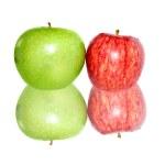 mele fresche isolate su bianco — Foto Stock