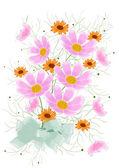 çiçek kartı tasarımı — Stok fotoğraf