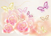 Pretty soft roses design — Stock Photo