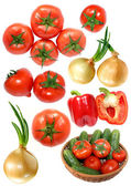 Fresh vegetables isolated on white — Stockfoto