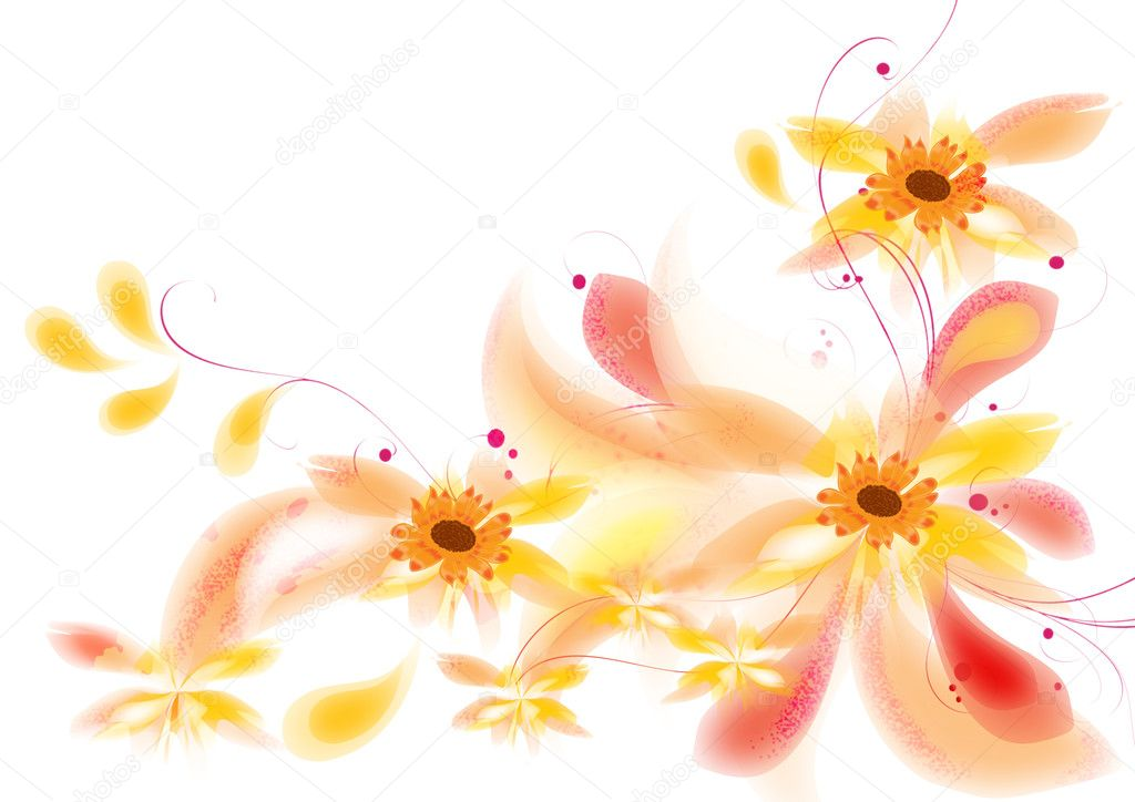 Pretty flowers ornament for your  design. — Stock Photo #10538495