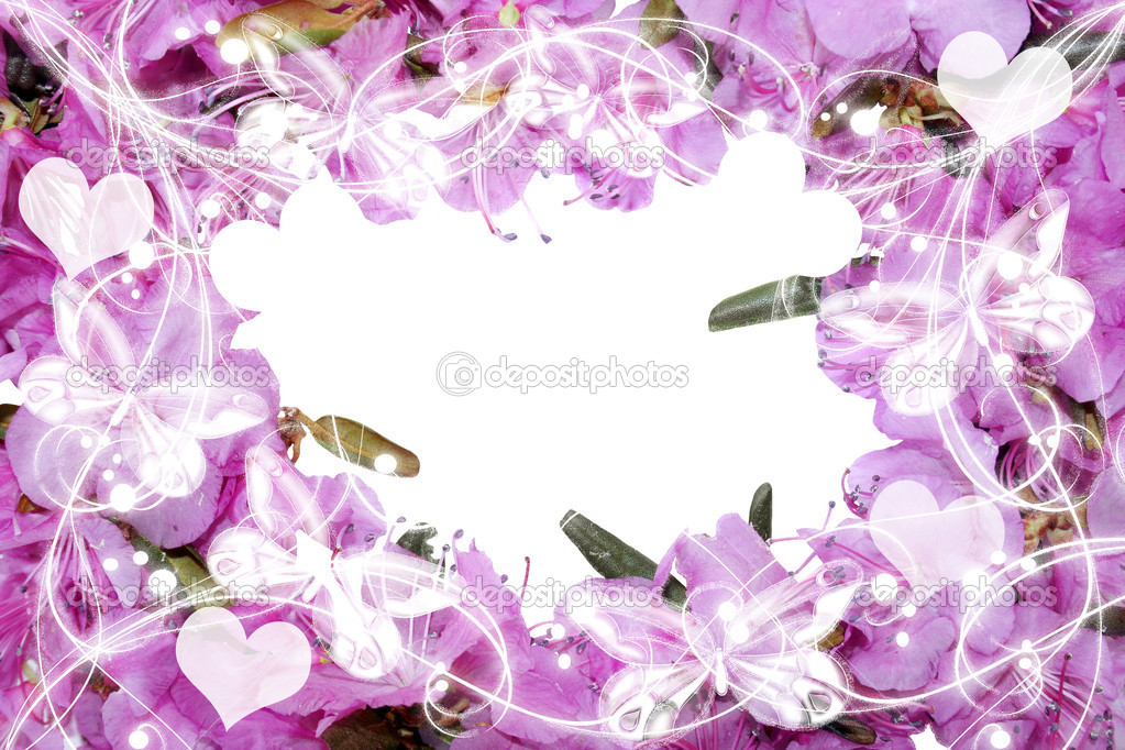 Pretty frame from pink flowers. — Stock Photo #10538503