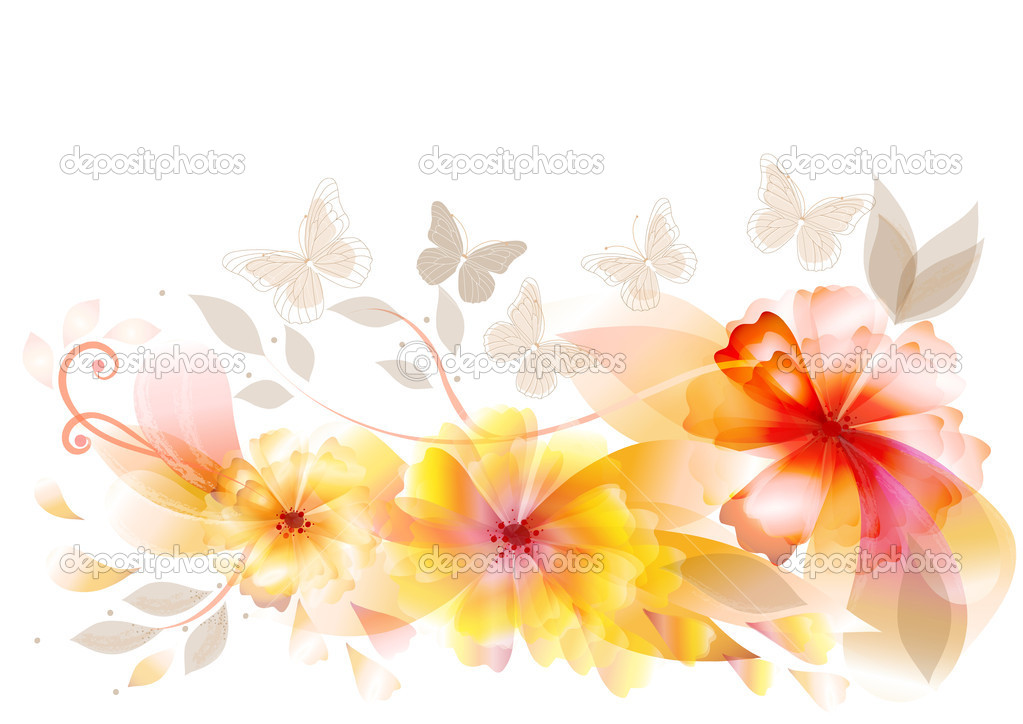 Vector flowers back for your design. Vector  Stock Vector #10566194