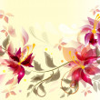 Abstract floral vector back — Stock Vector #10698655