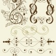 Royalty-Free Stock Vector Image: Collection of calligraphic vector elements
