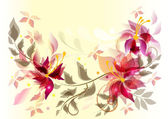 Abstract floral vector back — Stock Vector