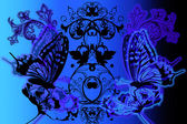 Abstract glamour butterflies — Stock Photo