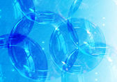 Abstract blue background with bubbles — Stock Photo