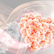 Abstract heart from pink roses — Stock Photo