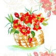 Abstract painting flowers in basket — Stock Photo #8237595