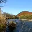 Autumn on a wild river - Stockfoto