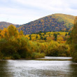 Stock Photo: Autumn river scenery 4
