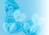 Abstract blue hearts — Stock Photo