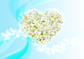 Abstract heart from spring flowers — Stock Photo