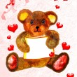 ストック写真: Pretty teddy bear card