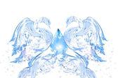 Abstrakte schwan-paar aus dem wasser — Stockfoto