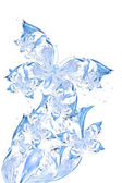 Beautiful abstract butterflies from water — Stock Photo