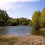 podzimní řeka — Stock fotografie