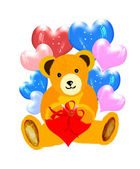 Attractive painted teddy bear — Stock Photo