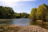 Autumn river — Stock Photo