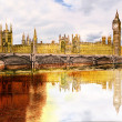 Beautiful painted London bridge - Stock Photo