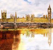 Beautiful painted London bridge — Stock Photo