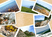 Collage frame from sea photos — Stock Photo