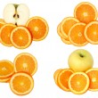 Fruit collage — Stockfoto