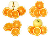 Fruit collage — Stock Photo