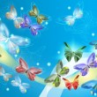 Beautiful and elegant butterflies design — Stock Photo