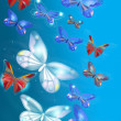 Colorful painted butterflies back — Foto de Stock