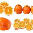 Stock Photo: Isolated oranges collection
