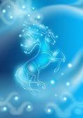 Beautiful shinny horse card — Stock Photo