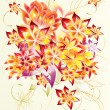 Abstract and beautiful design with flowers - Photo
