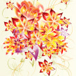 Abstract and beautiful design with flowers - Stockfoto