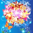 Abstract and shiny flowers bouquet - Stockfoto