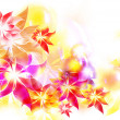 Abstract colorful flowers card - Stockfoto